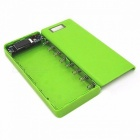 DIY 18650 Case Power Bank Shell Case Portable External 18650 Battery Box Charger with LCD Display for Cell Phone Blue