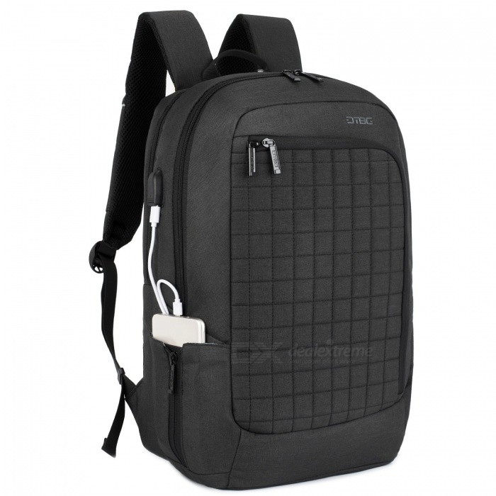 DTBG D8224W 17.3 Inches Laptop Backpack with USB Charging Port for Men / Women - BlackBags and Pouches<br>Form  ColorBlackModelD8224WQuantity1 pieceShade Of ColorBlackMaterialNylonCompatible Size17.3 inchTypeBackpacksPacking List1 x Backpack<br>