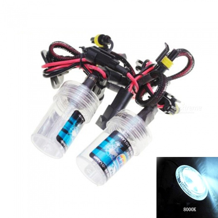 HB4 / 9006 Universal 12V 35W 8000K 3500LM Automobile Car HID Xenon Light Bulb Headlight - Cold WhiteHeadlights<br>Color Temperature8000KModel9006Quantity1 DX.PCM.Model.AttributeModel.UnitMaterialPlastic + quartz tubeForm  ColorBlack + Red + Multi-ColoredTypeHID LampCompatible Car ModelSuitable for all cars with HB4 / 9006 interfaceTypeACInput Voltage9~16 DX.PCM.Model.AttributeModel.UnitRate Voltage12VOutput Power35 DX.PCM.Model.AttributeModel.UnitColor BINCold WhiteTheoretical Lumens3500 DX.PCM.Model.AttributeModel.UnitActual Lumens3500 DX.PCM.Model.AttributeModel.UnitSocket Type9006Packing List2 x Xenon Headlights<br>