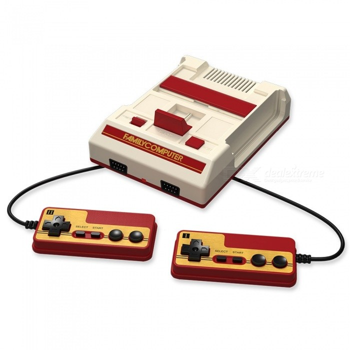 Classic NES Game Machine Mini TV Handheld Video Game Console with Dual ControllersOther Consoles Accessories<br>Form  ColorBeige + Red, US PlugQuantity1 setMaterialABSPacking List1 x Game console2 x Wired Joysticks1 x US plug power adapter1 x HD connection Cable for TV1 x English Instructions<br>