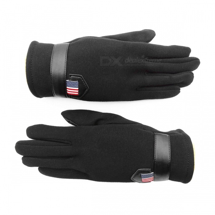 Outdoor Unisex Warm Touch Screen Velvet Full Fingers Gloves - BlackGloves<br>Form  ColorBlackSizeFree SizeQuantity1 piecesShade Of ColorBlackMaterialVelvetGenderUnisexSuitable forAdultsBest UseOthers,OutdoorSeasonsAutumn and WinterPacking List1 x Pair of Gloves<br>