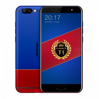 """Ulefone T1 Premium Edition Android 7.0 5.5"""" FHD Dual Camera Front Fingerprint 4G Phone with 6GB RAM 128GB ROM - Red + Blue"""