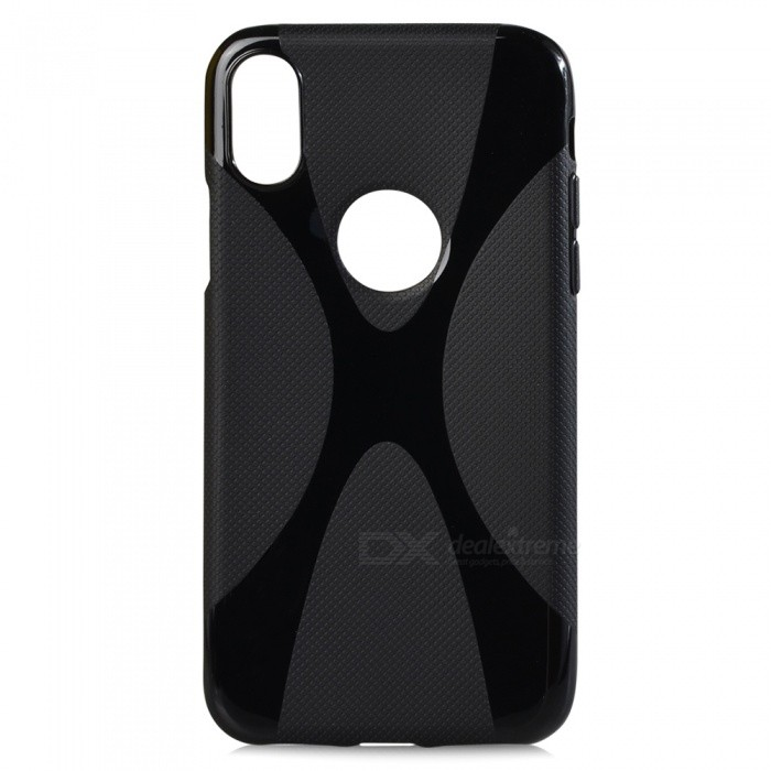 X Style Protective TPU Back Case for IPHONE X - Black