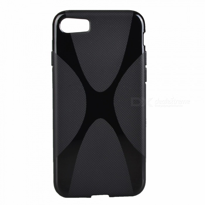 X Style Protective TPU Back Case for IPHONE 8 - Black