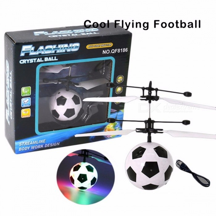 Verbazingwekkend RC RC Flying Ball Toy Drone Helicopter Ball Built-in Shinning LED QS-71