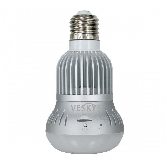 VESKYS-960P-360-Degree-Fish-Eye-Lens-13MP-Wireless-Wi-Fi-Full-View-IP-Camera-Smart-Bulb-Light-for-Home-Security