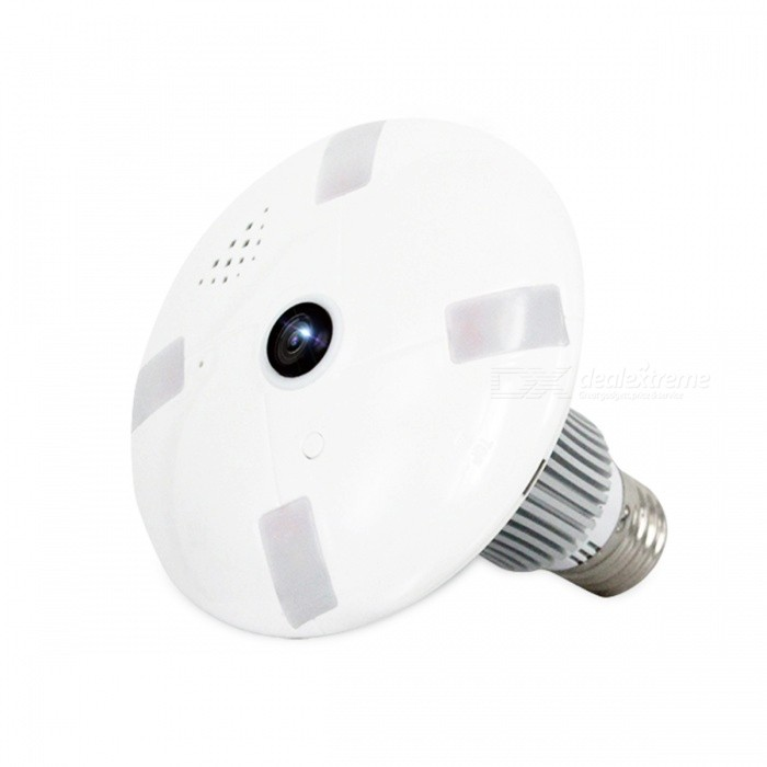 VESKYS 960P 1 3MP 360 Degree Fish Eye Lens Wireless Wi-Fi Full View IP  Camera, Smart Bulb Light for Home Security