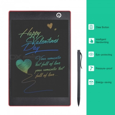 OJADE 9.7 Inches Color LCD Writing Pad Digital Drawing Tablet, Electronic Graphic Board with Stylus - Red