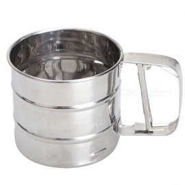 BSTUO Handheld Stainless Steel Mesh Flour Sifter, Cup Shape Icing Sugar Shaker, Powder Sieve