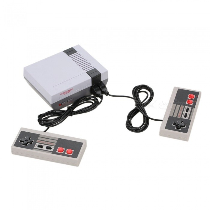 NES Retro Mini TV Handheld Family Recreation Video Game Console w/ Built-in 500 Classic Games (US Plug)Other Consoles Accessories<br>Form  ColorWhite + Grey (US Plug)Quantity1 pieceMaterialABSPacking List1 x Game Console2 x Game Handles1 x AV Cable1 x AC Electric Power (US Plug) 1 x User Manual (including English)<br>