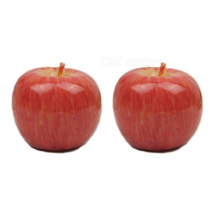 P-TOP Apple Candle, Simulation Fruit Peculiar Christmas Eve Ornament Gift (2 PCS)