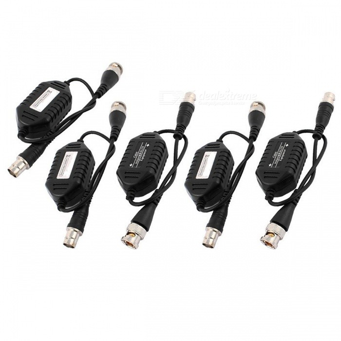 Coaxial-Video-Ground-Loop-Isolator-Balun-BNC-Male-to-Female-Adapter-for-CCTV-Camera-(5-PCS)