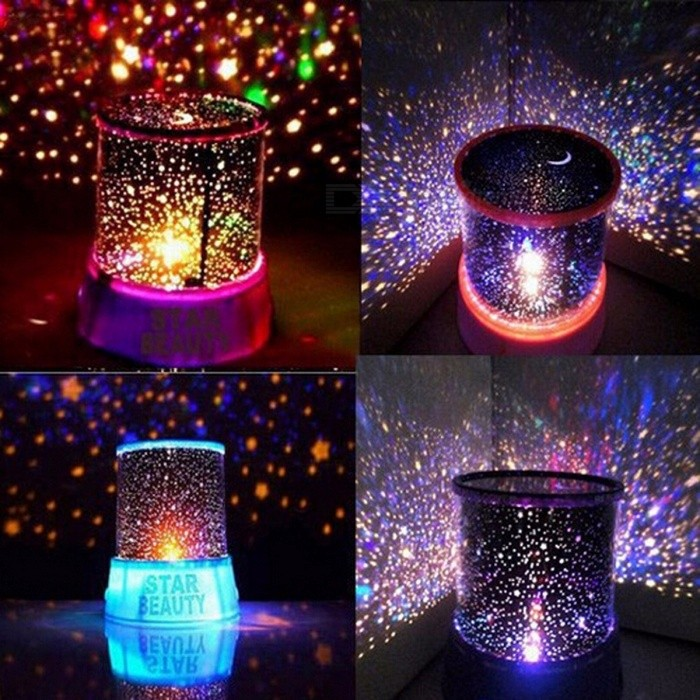 Amazing LED Night Light Table Lamp for Bedroom Novelty Sky Star Projector Home Decor Baby Children Kids Sleeping Light Black