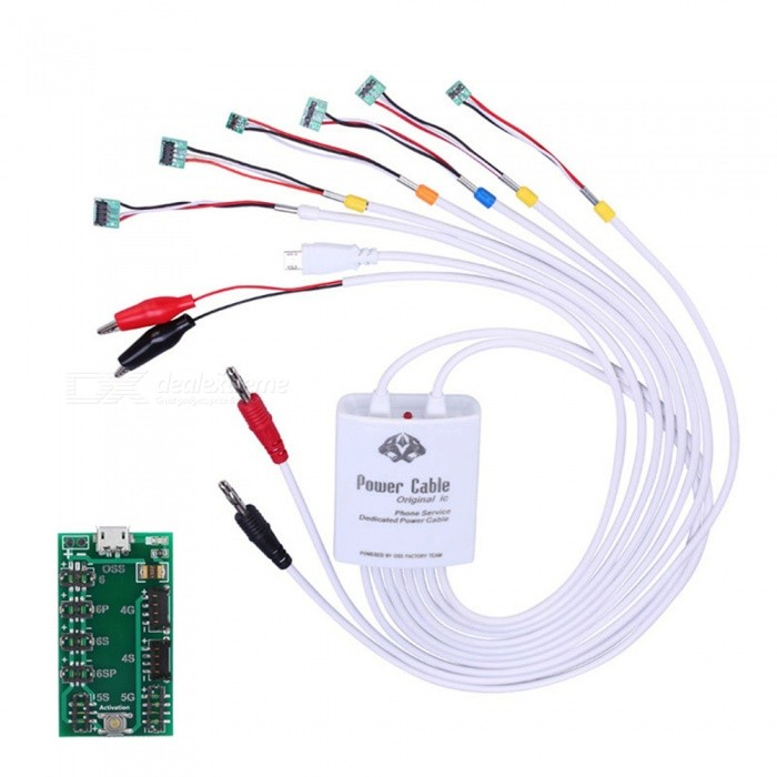 OJADE Professional Battery Charge Activation Board &amp; Power Supply Current Test Cable for IPHONETesters &amp; Detectors<br>Form  ColorWhiteModelN/AQuantity1 setMaterialABSBattery Number0Battery included or notNoPacking List1 x Battery Charge Activation Board with Cable<br>