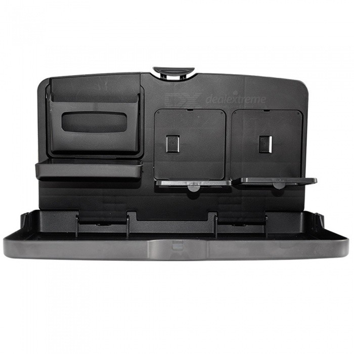 Universal-Car-Food-Tray-Folding-Dining-Table-Drink-Holder-Pallet-for-Car-Stowing-Tidying-Black