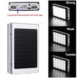 Cwxuan-Portable-5V-8000mAh-Lithium-Polymer-Battery-Mobile-Solar-Power-Bank-with-Dual-USB-Ports-20-LED-Light-Silver