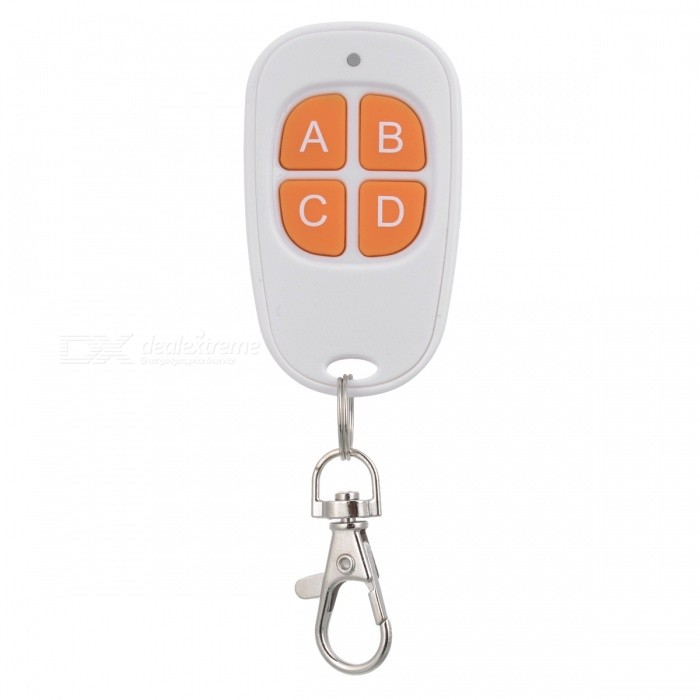A029-433MHZ Mini Garage Car Door Volume Gate Wireless Alarm Remote Control with Keychain - White