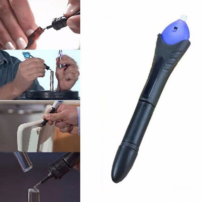 Portable 5 Second Fix UV Light Repair Tool with Glue, Super Powered Liquid Plastic Welding Compound Tool KitOther Tools<br>Form  ColorBlack + PurpleForm  ColorBlack + PurpleQuantity1 setMaterialPlasticPacking List1 x Repair Tool<br>