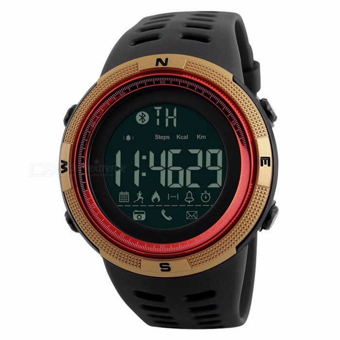 Smart Watch Heart Rate Sport Watches Men Bluetooth Pedometer Calorie Rechargeable Led Digital Wristwatch Reloj Hombre Skmei 2018 Men's Watches