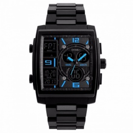 SKMEI-1274-Waterproof-Mens-Fashion-Sport-Watch-Chronograph-Digital-Wristwatch-with-Alarm-Count-Down-EL-Light