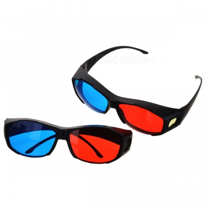 Anaglyphic Blue + Red 3D Glasses (2PCS)