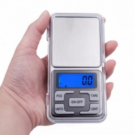 Mini Pocket Electronic Scale 500g 0.1g Digital Scale Tool Portable Jewelry Scales with LCD Screen Display gray