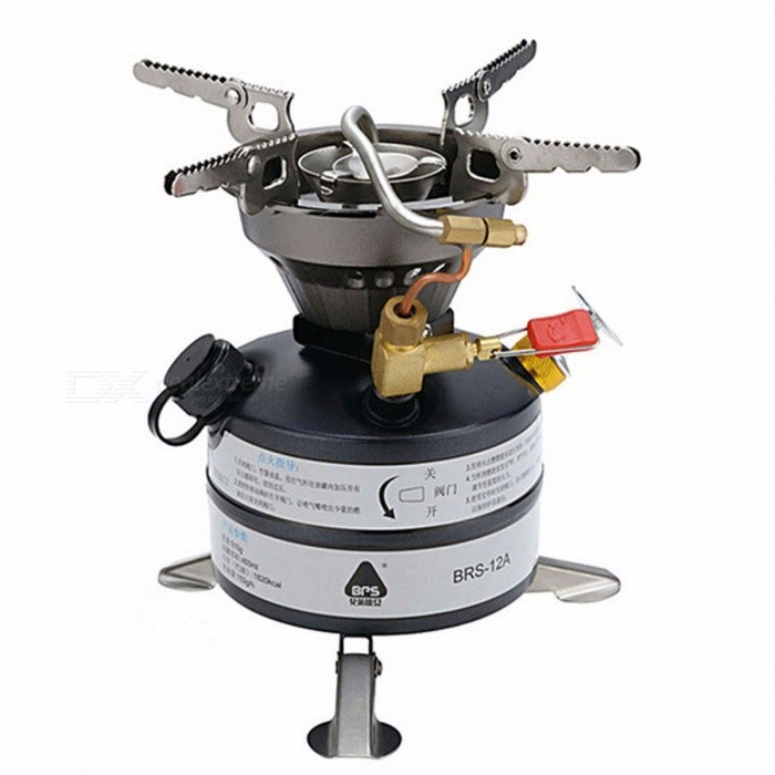 Portable Outdoor Mini Liquid Fuel Camping Gasoline Stoves Kerosene Stove Burners Diesel Gasoline Stove BRS-12A black