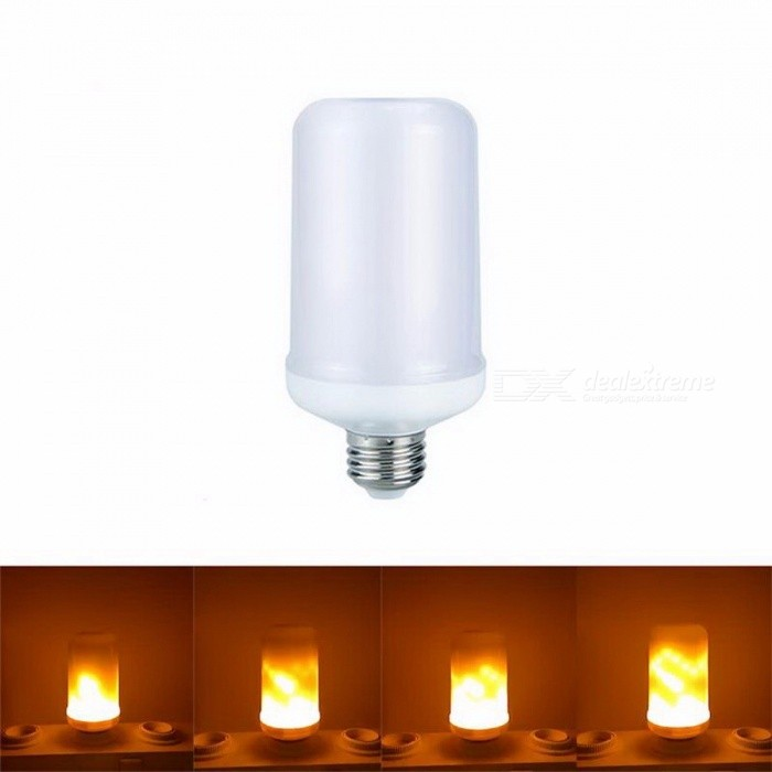 E27 E26 2835 SMD LED Lamp Simulation Flame Effect Fire Light Bulbs 7W Flickering Emulation Flame Light 1300K AC85~265V 7w/Yellow