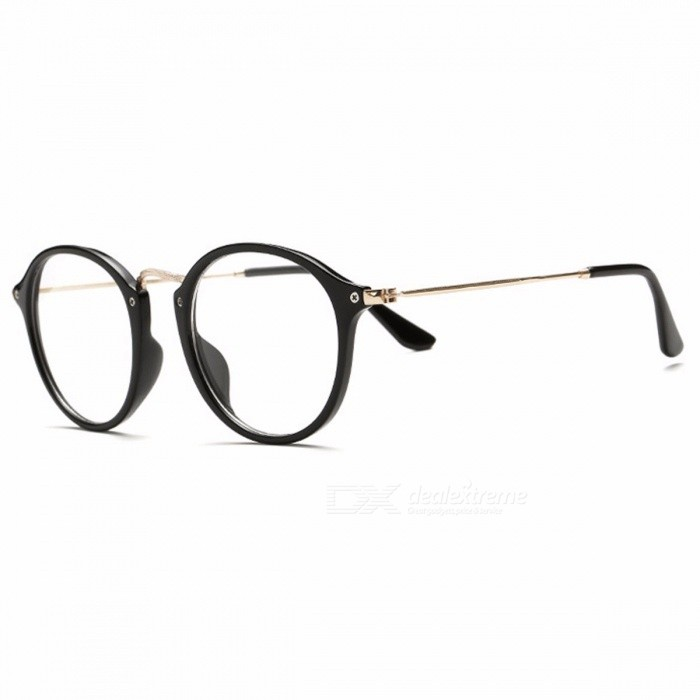 Buy Classic Vintage Transparent Glasses Round Unisex Nerd Eyeglasses Frame Clear Glasses lunette de vue oculos de grau With Box Black with Litecoins with Free Shipping on Gipsybee.com