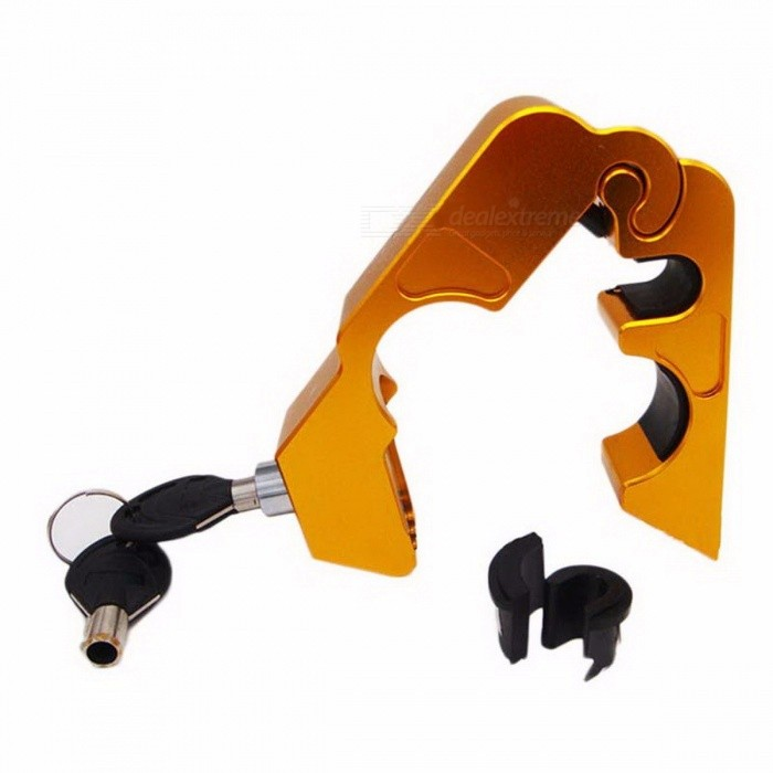 Aluminum Alloy Anti-Theft Lock Safety Security Lock Bicycle Handlebar Lock 5 Colors 450g Bike Accessories for MTB GoldenBike Accessories<br>Form  ColorGoldenMaterial:Battery included or notNoPacking ListProduct<br>