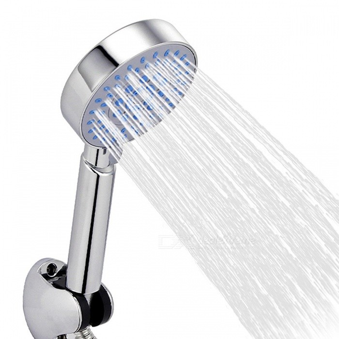 Buy Five Fuction Silicone Holes Shower Head Water Saving with Chrome Shower Head Rainfall Round Handheld Shower ZJ006 Shower Head with Litecoins with Free Shipping on Gipsybee.com