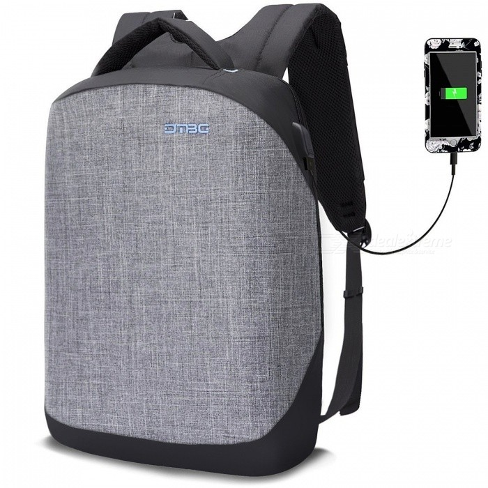 DTBG-156-Inch-Anti-Theft-Business-Laptop-Backpack-with-USB-Charging-Port-Grey