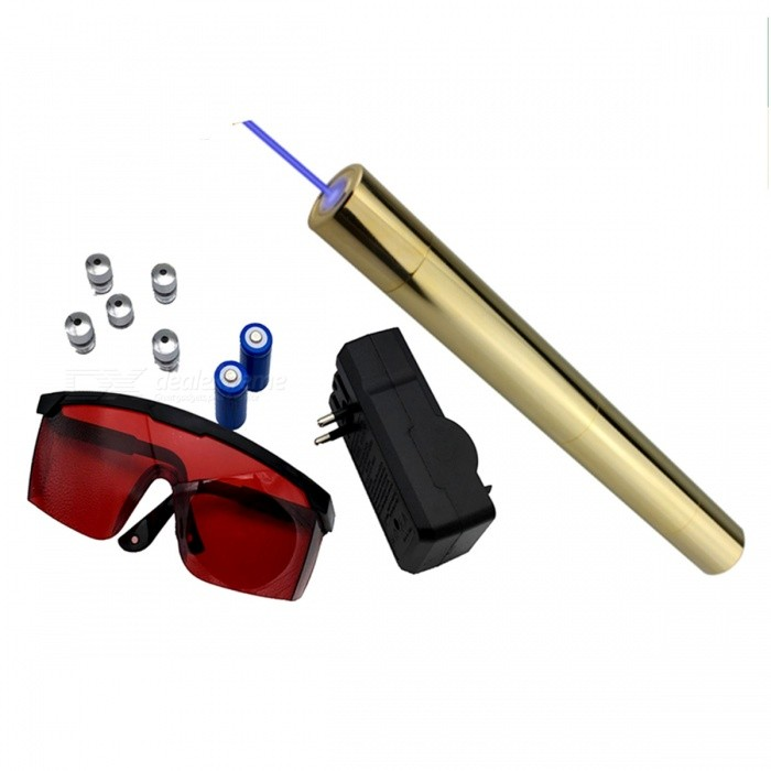 Portable High Power Premium Full Copper Blue Laser Gun - Golden