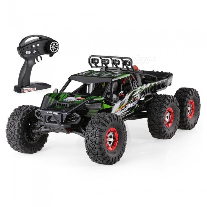 Original JJRC FY-06 Desert-6 1/12 6WD 2.4G 60KM/h High Speed Remote Control RC Brushless Desert Crawler Car - GreenR/C Airplanes&amp;Quadcopters<br>Form  ColorGrass GreenModelFY-06MaterialABSQuantity1 setShade Of ColorGreenGyroscopeYesChannels Quanlity6 channelFunctionUp,Down,Left,Right,Forward,Backward,StopRemote TypeRadio ControlRemote control frequency2.4GHzRemote Control Rangemore than 100 mSuitable Age 12-15 years,Grown upsCameraNoCamera PixelNoLamp NoBattery TypeLi-ion batteryBattery Capacity7.4V 3000 mAhCharging Timeabout 150 minutesWorking Timeabout 10 minutesRemote Controller Battery TypeAARemote Controller Battery Number4  battery (not included)Remote Control TypeWirelessModelMode 2 (Left Throttle Hand)CertificationCEOther FeaturesThis is FY-06, a new 6x6 6WD super monster that will conquer the desert.It is easy to run, with alloy chassis structure control simulation, it can limberly move forward and back, and turn left and right. It is specially designed for crawling in desert. Whats more, the max speed can reach 60KM/H. Dont hesitate to buy it!Packing List1 x FY-06 Car1 x Remote Controller (Mode 1 &amp; 2)1 x 7.4V 3000mAh Lipo battery1 x Charger Plug1 x Accessories set1 x User Manual set<br>