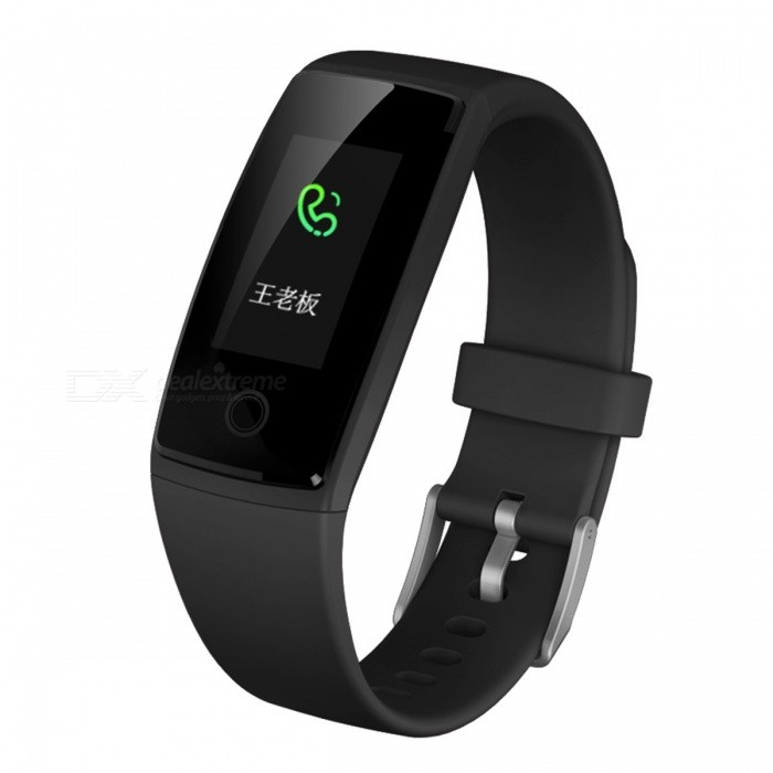 DMDG Smart Bracelet Fitness Tracker IP68 Waterproof Heart Rate Sleep Monitoring for Android IOS - Black