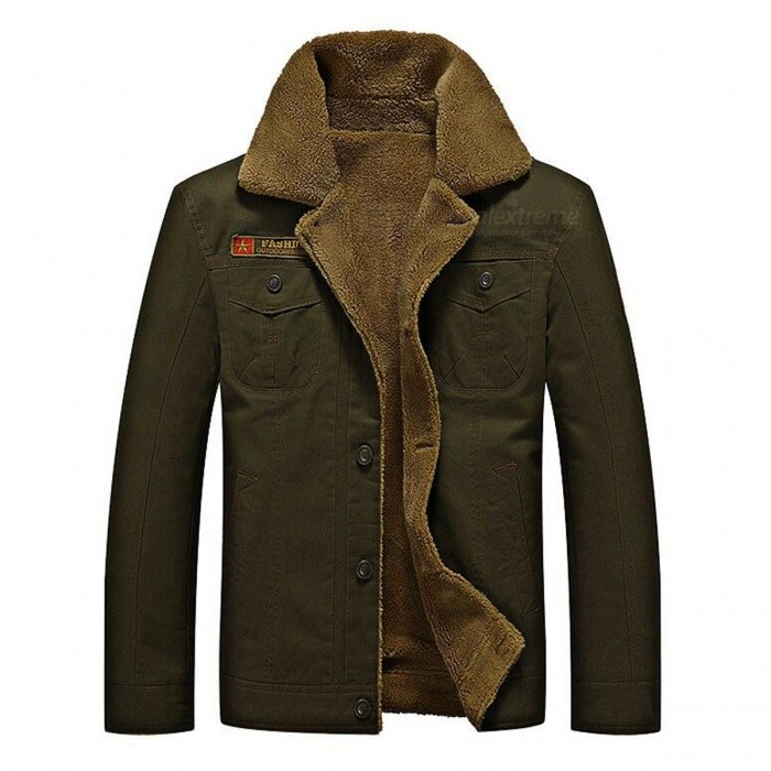 CTSmart YM608 Mens Fashion Long Sleeves Warm Jacket Coat for Autumn Winter - Army Green (XL)Jackets and Coats<br>Form  ColorArmy GreenSizeXLModelYM608Quantity1 DX.PCM.Model.AttributeModel.UnitShade Of ColorGreenMaterialCotton blend and polyesterStyleFashionTop FlyZipperShoulder Width48 DX.PCM.Model.AttributeModel.UnitChest Girth57 DX.PCM.Model.AttributeModel.UnitWaist Girth57 DX.PCM.Model.AttributeModel.UnitSleeve Length64 DX.PCM.Model.AttributeModel.UnitTotal Length70 DX.PCM.Model.AttributeModel.UnitSuitable for Height175 DX.PCM.Model.AttributeModel.UnitPacking List1 x Coat<br>