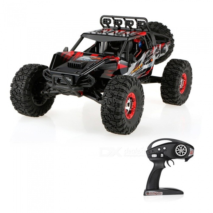 Original JJRC FY-07 Desert-7 1/12 4WD 2.4G 70KM/h High Speed Remote Control Brushless Desert Crawler Car - RedR/C Airplanes&amp;Quadcopters<br>Form  ColorBlack RedModelFY-07MaterialABSQuantity1 setShade Of ColorBlackGyroscopeYesChannels Quanlity6 channelFunctionDown,Left,Right,Forward,Backward,StopRemote TypeRadio ControlRemote control frequency2.4GHzRemote Control Rangemore than 100 mSuitable Age 12-15 years,Grown upsCameraNoCamera PixelNoLamp NoBattery TypeLi-ion batteryBattery Capacity7.4V 1500 mAhCharging Timeabout 150 minutesWorking Timeabout 10 minutesRemote Controller Battery TypeAARemote Controller Battery Number4 * AA battery (not included)Remote Control TypeWirelessModelMode 2 (Left Throttle Hand)CertificationCEOther FeaturesThis isJJRC FY-07, a new 4WD super monster that will conquer the desert.It is easy to run, with alloy chassis structure control simulation, it can limberly move forward and back, and turn left and right. It is specially designed for crawling in desert. Whats more, the max speed can reach 70KM/H. Dont hesitate to buy it!Packing List1 x JJRC FY-07 Car1 x Remote Controller (Mode 1&amp;2)1 x 7.4V 1500mAh Lipo battery1 x Charger Plug1 x Accessories set1 x User Manual set<br>