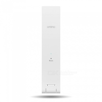 Omimo Mini Portable 300Mbps Wi-Fi Signal Repeater for Home Use - White