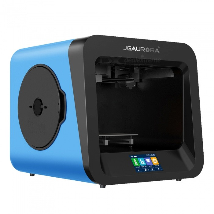 "JGAURORA A4 3D Printer with 4.3"" Colorful Touch Screen, Support Power Failure Protection & Runs Out Detection"