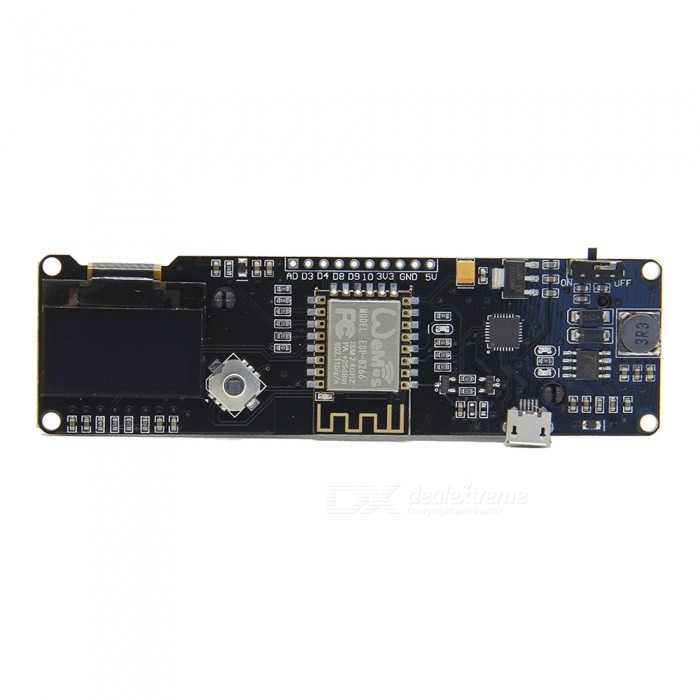 Geekworm-ESP8266-ESP-WROOM-02-Development-Board-Mini-WiFi-NodeMCU-Module-with-ESP8266-Chip-2b-18650-Battery-Holder-2b-096-OLED