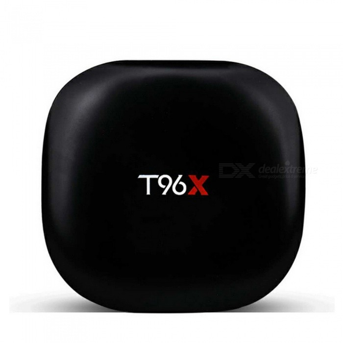 T96X TV Box Android 6.0 Smart TV Player 8GB Cortex-A53 Amlogic s905x - EU PlugSmart TV Players<br>Form  ColorBlackBuilt-in Memory / RAM1GBStorage8GBPower AdapterEU PlugModelT96XQuantity1 pieceMaterialABSShade Of ColorBlackOperating SystemAndroid 6.0ChipsetAmlogic s905xCPUOthers,cortex-A53Processor Frequency2.0GHZGPUMali-450Menu LanguageEnglish,French,German,Italian,Spanish,Portuguese,Russian,Vietnamese,Polish,Greek,Danish,Norwegian,Dutch,Japanese,Bahasa Indonesia,Thai,Latin,Malay,Czech,Greek,Chinese Simplified,Chinese TraditionalMax Extended Capacity32GBSupports Card TypeMicroSD (TF)Wi-Fi802.11 b/g/nBluetooth VersionNo3G FunctionNoWireless Keyboard/Mouse2.4GHzAudio FormatsMP3,WMA,APE,FLAC,OGG,AC3,DTS,AACVideo FormatsAVI,MKV,MOV,M4V,AVC,FLV,VOB,MPG,DAT,MPEG,WMVAudio CodecsDTS,AC3,FLACVideo CodecsMPEG-1,MPEG-2,MPEG-4,H.264,VC-1Picture FormatsJPEG,BMP,PNG,GIF,TIFFSubtitle FormatsMicroDVD [.sub],Sub Station Alpha [.ssa]Output Resolution1080PHDMI2.0USBUSB 2.0Power Supply5V 2APacking List1 x T96X TV Box1 x Remote controller1 x Power Supply 1 x HDMI Cable1 x User Manual<br>