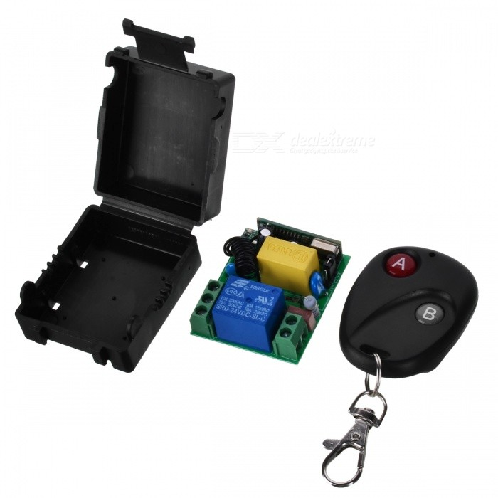 433MHZ 24V Mini Portable Remote Controller w/ Switch Module for Garage Door Opener, Window, Lifting Device, Motor, Water PumpTransmitters &amp; Receivers Module<br>Form  ColorDark red + BlackModel433MHZ.24VQuantity1 setMaterialABS, PCBFrequency433MHZWorking Voltage   24 VWorking Current10 AEffective Range50-100MEnglish Manual / SpecNoDownload Link   http://a3.qpic.cn/psb?/V110RK7y0wIonC/hyc*Vz59*O5ABRGUw1ZfMA0NoZxkz49CHXLDJOQQxgc!/m/dPIAAAAAAAAAnull&amp;bo=gAIRAwAAAAADB7I!&amp;rf=photolist&amp;t=5Packing List1 x Controller (2016 battery 2)1 x Module<br>