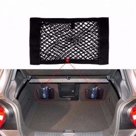 Universal Car Trunk Storage Bag Box Mesh Net Bag Luggage Holder Pocket Sticker Trunk Organizer Size 40cm x 25cm Black
