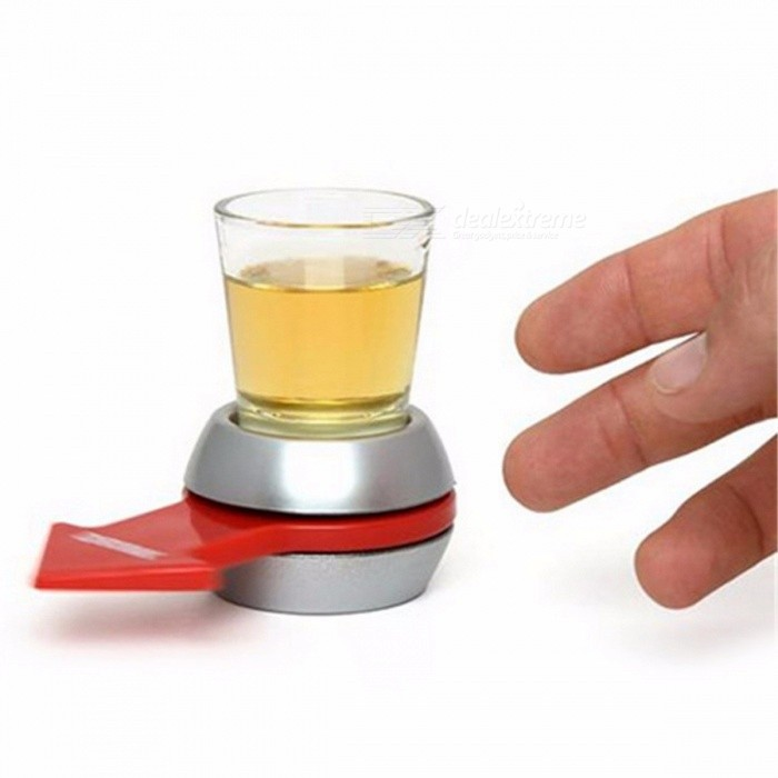 Drinking Game Spin The Shot Glass Fun Party Gift Turntable Toy with Spinning Wheel Bar Game Party Game Prop Silver