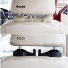 2PCS Car Fastener&Clip Bags Auto Portable Seat hook Hanger Purse Bag Holder Seat Back Organizer Holder Interior Accessories Beige