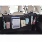 Auto Car Lengthened Stowing Tidying Pockets Trunk Organizer Car Seat Back Storage Bag Phone Tablet Snacks Holder black