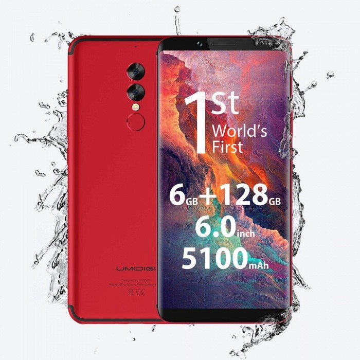 "UMIDIGI S2 Pro 6.0"" 18:9 Octa-core 4G Phone with 6GB RAM, 128GB ROM - Red"