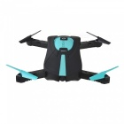 JY018 wi-fi FPV plegable mini drone RC quadcopter con cámara de 0.3MP - negro + azul