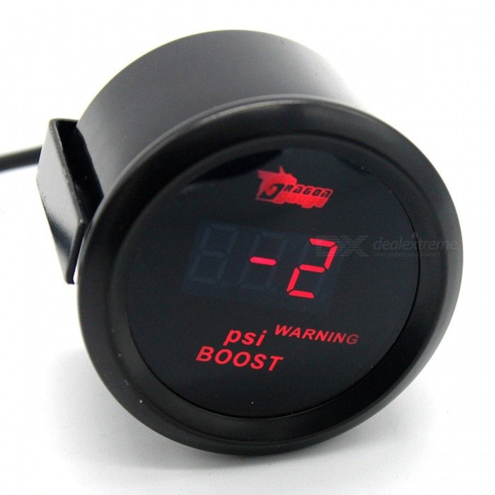 IZTOSS B2934 Digital Boost Meter with Red LED Display for Car Modified UseOther Gadgets<br>Form  ColorBoost MeterModelB2934Quantity1 setMaterialMetal + plasticShade Of ColorBlackCurrent0.3 APower Supply12VPacking List1 x Boost Meter<br>