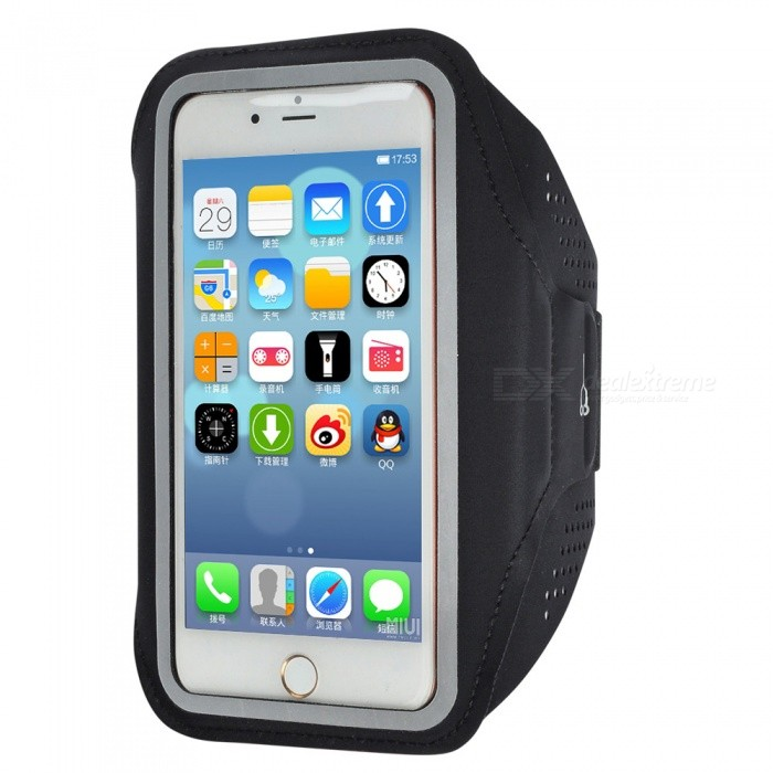 Outdoor Sports Water-Resistant Lycra Armband Case for IPHONE 7 PLUS / 6 PLUS / 6S PLUS / 8 PLUS / IPHONE X